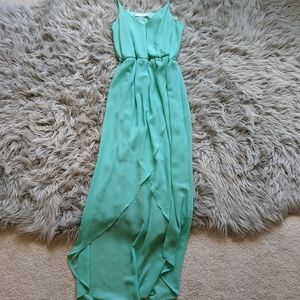 Lush casual turquoise dress
